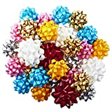 Hallmark Gift Bow Assortment (30 Bows, 2 Sizes) Red, White, Pink, Blue, Yellow, Silver, Gold for Christmas, Hanukkah, Birthdays, Weddings, Baby Showers