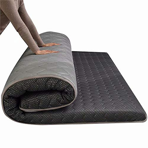 WCOLAS Floor Mattress,Japanese Futon Tatami Mat,Foldable Mattress for Sleep & Travel,Student Dormitory Mattress-Best as Adult Guest Bed,Camping Cot,RV,Floor Mat