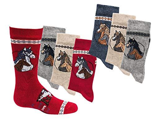 C&C KIDS C&C KIDS Kinder Socken,6er PACK,31/34,motiv/pferde