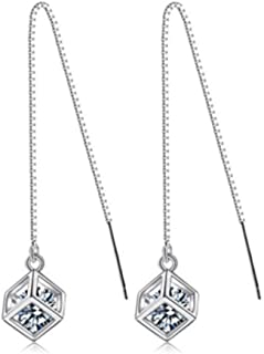 Fashion Simple Femmes Or Jaune Rempli Coeur Rond Creux Cristal Boucles D/'oreilles Clou