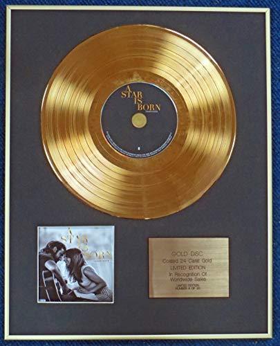 Presentazioni secolo - A STAR IS BORN with LADY GAGA - Disco LP rivestito in oro 24 carati - ORIGINALE SOUNDTRACK