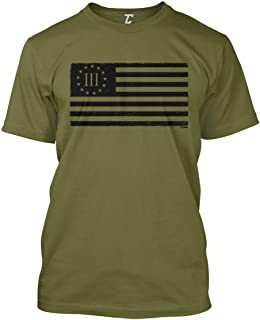 Three Percenter Flag - Threeper Protest Men`s T-Shirt