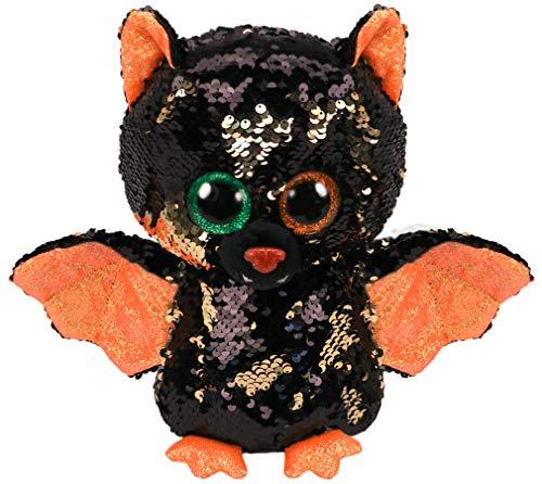 Ty – Flippables – Peluche de Lentejuelas Brillante Omen la Chauve-Souris Halloween
