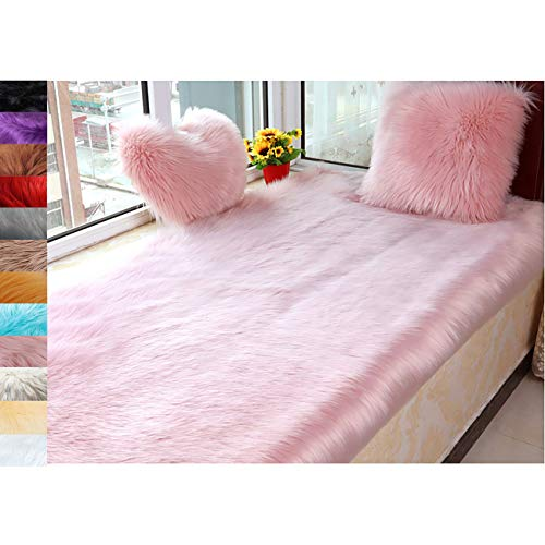 Tent Rug Floor Decor Small Carpet, Fluffy Non-Slip Home Decor, For Bedroom Carpet Nursery Floor Mats Sofa-Home Decor Fluffy Chair Cover Seat - Pink 80x170cm