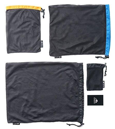Alpamayo® Packbeutel, 4-teiliges Packtaschen Set für Reisen, Organizertaschen für Rucksack oder Koffer, Netzbeutel, Wäschebeutel, Wäschesack