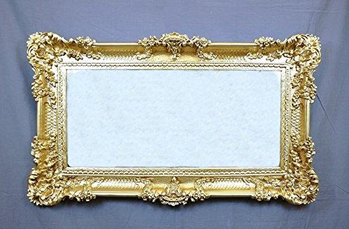Ideacasa Specchio Oro Specchiera Dorata Grande Cornice Stile Barocco Finto Vintage Cm 96X56