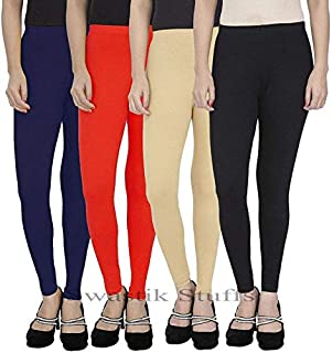 Swastik Stuffs Ankle Length Leggings Combo for Women Free Size (Combo Pack of 4)