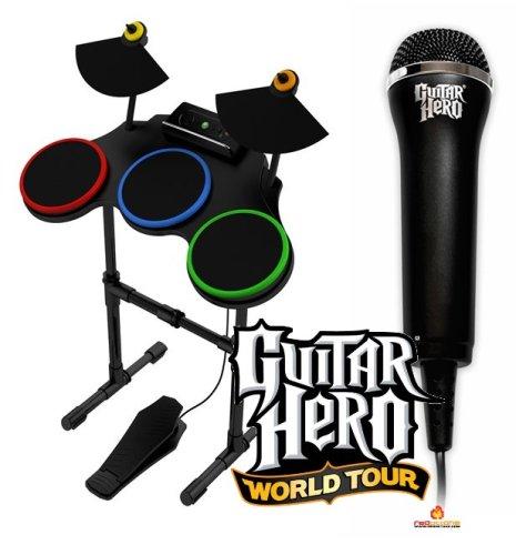 Xbox 360 Guitar Hero World Tour Drum and Microphone Kit