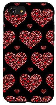 iPhone SE  2020  / 7 / 8 Cute Heart Outline Love Elegant Heart Shapes Red Heart Case