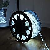 50ft 360 LED Waterproof Rope Lights,110V Connectable Indoor Outdoor Led Rope Lights for De...