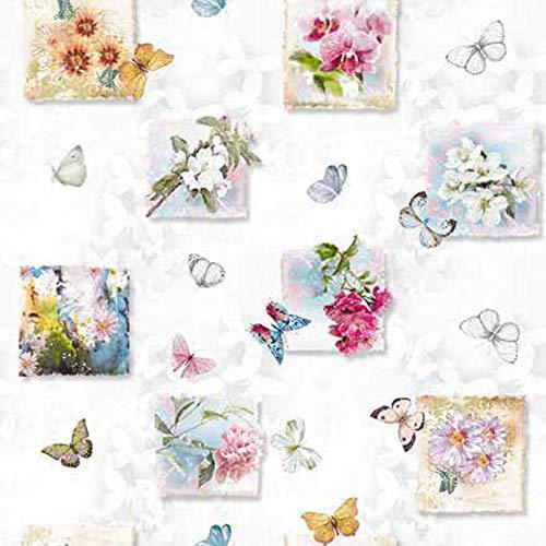 Mambo-Design Wachstuch Farfalla Schmetterling · Eckig 140x100 cm · Länge wählbar· abwaschbare Tischdecke 2019