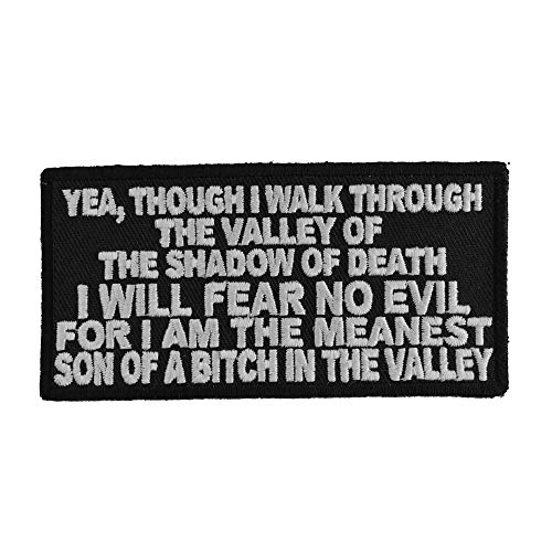 Valley of The Shadow of Death Patch - 4x2 inch. Embroidered Iron on Patch