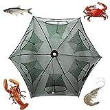 Noa Store Upgraded Fishing Bait Foldable Net Trap Cast Dip Cage Crab Fish Minnow Crawdad Shrimp