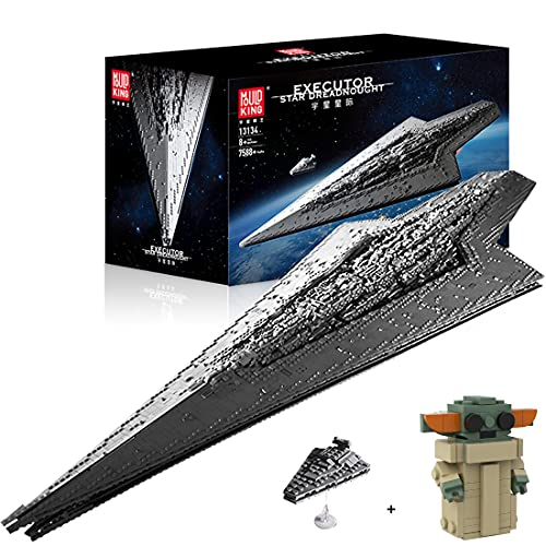 KEAYO Technik Sternenzerstörer Modell, Mould King 13134, 7588 Teile Groß UCS Super Star Destroyer MOC Klemmbausteine Bauset Kompatibel mit Lego Sternenzerstörer