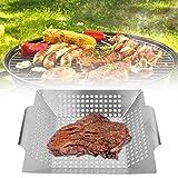 Herramientas para Barbacoa, Cesta Multifuncional para Barbacoa, cómodo de sostener Durable para la Cocina casera