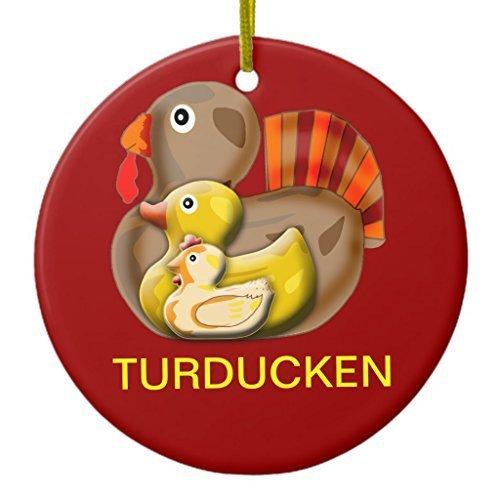 Fhdang Decor Christmas Hanging Ornament Customizable Turducken Designs