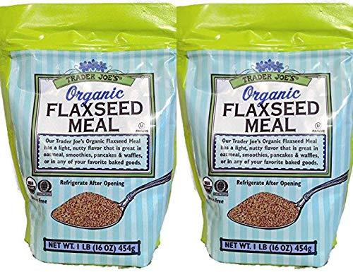 Trader Joe's Organic Flaxseed Meal 1lb (16 oz) - 2-PACK