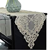 Piano Cover Cloth Lace Fabric Decorative Dust-proof Cloth for Upright Vertical Piano Top Cover