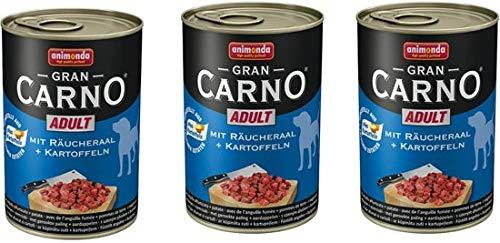 Grancarno hondenvoer Paling+Aardappel 400 gr per 3 blikken