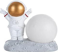 Astronaut Night Lamp Astronaut Beeldje Desktop Astronaut Space Speelgoed Planeet Hars Standbeelden Voor Kamer Slaapkamer B...