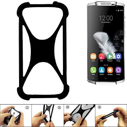 K-S-Trade® Handyhülle Für Oukitel K10000 Schutz Hülle Silikon Bumper Cover Case Silikoncase TPU Softcase Schutzhülle Smartphone Stoßschutz, Schwarz (1x),