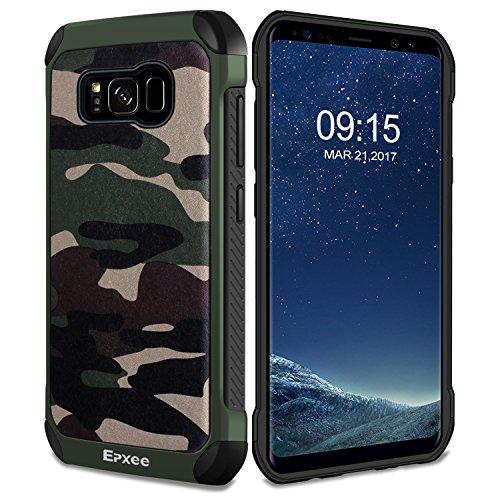 Epxee Hülle für Samsung Galaxy S8, Silikon Handyhülle Schwarz TPU Bumper Cover Schutzhülle für Samsung Galaxy S8 Case - Camouflage