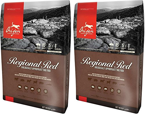 Orijen Regional Red for Dogs, 4.5 Pounds Per Bag (2 Pack)