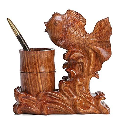 Taoke Feder-Behälter Massivholz Dekorative Holz-Handwerk Heim-Abschluss-Geschenk-Feder-Aufbewahrungsbehälter 8bayfa