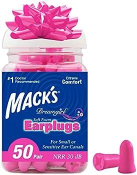 50-Pair Mack's Dreamgirl Soft Foam Earplugs