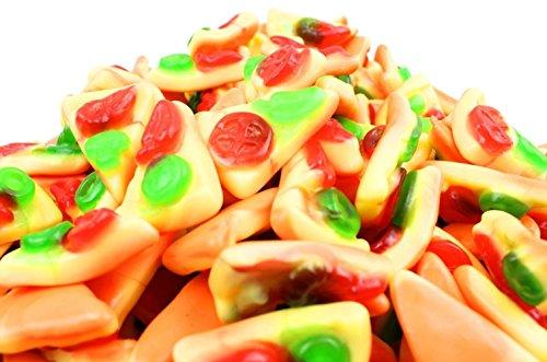 Vidal Fette Pizza Ripiene Caramelle Gommose. Busta da 250 pezzi (circa 1650gr). Ideale per Feste di Compleanno, Caramellate, Candy Buffet. Senza Glutine / Gluten Free