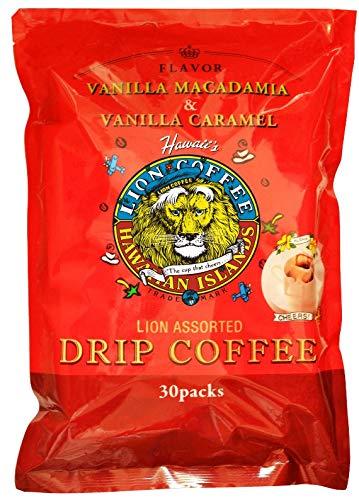 ライオンコーヒー ドリップパック30パック バニラマカダミア バニラキャラメル ハワイアンコーヒー lion coffee 2個セット [0418]