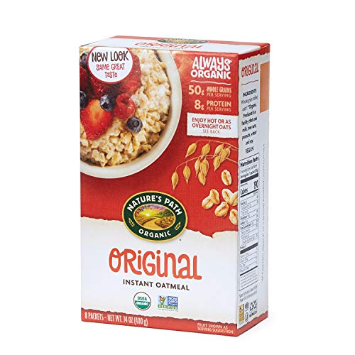 Nature#039s Path Organic Instant Oatmeal Original 48 Packets Pack of 6 14 Oz Boxes