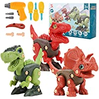 7)JIJLIFE Take Apart Dinosaur Construction Learning Building Toy Set (Age 3 to 7)
