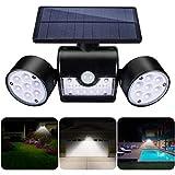 Luz Solar Exterior,GIANTARM Foco solar LED de exterior de ajustable de 360 grados con detector de movimiento,grado impermeable IP65, luz nocturna segura adecuada para garaje Patio y jardín
