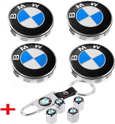 interestingcar 4er Set - Emblem für Radmittenabdeckungen, 68 mm BMW Logo Felgenabdeckung + 4er Set...