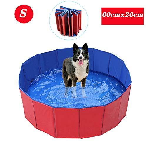 WELLXUNK Piscina para Mascotas,Bañera para Perros,Piscina para Mascotas Plegable,Antideslizante Piscina para Mascotas,para...
