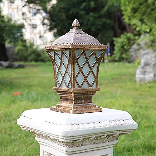 Tletiy Victorian Square Lampioni Giardino Vintage lampioni da Esterno luci Post E27 in Alluminio antiruggine Lampade Colonna Esterno Luce Colonna Impermeabile alimentata Rete cancello Giardino