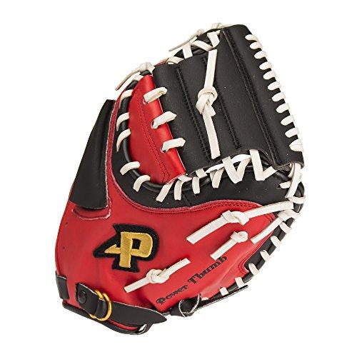 『サクライ貿易(SAKURAI) Promark(プロマーク) 野球 一般軟式用 グラブ(グローブ) 捕手用 キャッチャーミット レッドオレンジ×ブラック PCM-4253』のトップ画像