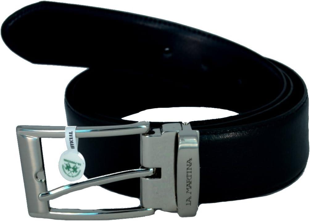 La Martina Cinturón Hombre Reversible Negro/Blue Belt Men Double Black/Blue 023C13