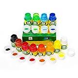 Lightwish Peinture Lavable au Doigt, 12 Couleurs Enfants de Peinture Parfait pour les Arts, Manuels et Affiches Ravaux, kit de Peinture au Doigt Idéal pour les Cadeaux pour Enfants