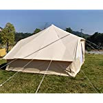 Latourreg Cotton Canvas 5X4M Touareg Bell Tent Square Glamping Safari Tent with Double Door. 15