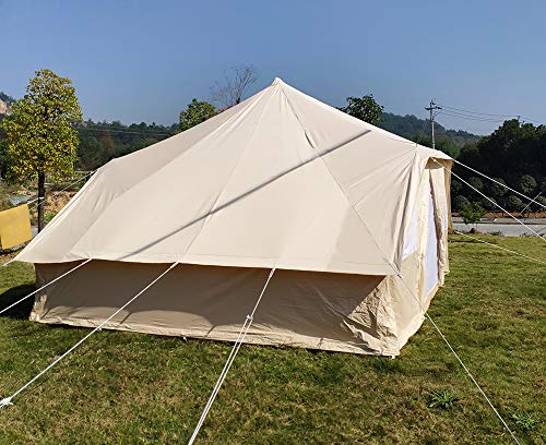 Latourreg Cotton Canvas 5X4M Touareg Bell Tent Square Glamping Safari Tent with Double Door. 6
