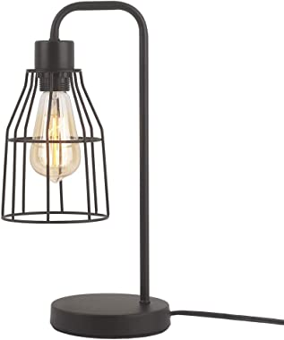ZZ Joakoah Industrial Table Lamp, Metal Rustic Desk Lamp, Bedside Nightstand Lamp, E26 Edison Reading Lamp Light Fixture for