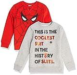 Spotted Zebra Disney Star Wars Fleece Crew Sweatshirts Fashion, Paquete de 2 Ojos Marvel Spider-Man, 11-12 años