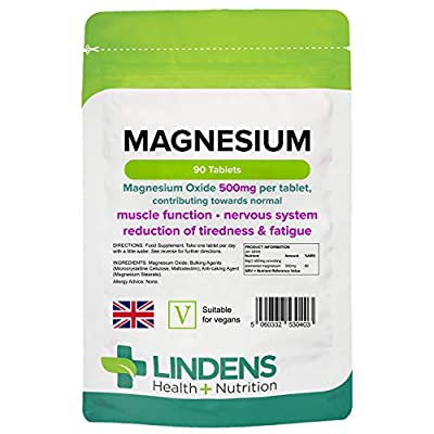 Lindens Magnesium 500mg Tablets | 90 Pack