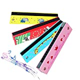 armonica per bambini,biluer 4pcs armonica a bocca a 16 fori bambini strumenti musicali per bambini può essere usata come un regalo di natale o di compleanno per bambini squisito