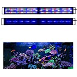 KZKR Upgraded Aquarium Light LED Full Spectrum 48 - 60 inch Hood Lamp for Freshwater Marine Plant Multi-Color Decorations Light 120 - 150 cm