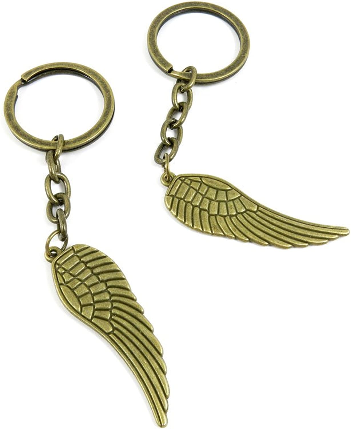 150 Pieces Fashion Jewelry Keyring Keychain Door Car Key Tag Ring Chain Supplier Supply Wholesale Bulk Lots S2ZU3 Angel Wings