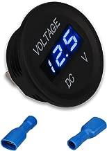 WATERWICH 12V 24V Volt Meter LED Digital Display DC Voltmeter Voltage Meter with Terminals for Car Automobiles Motorcycle Truck Boat Marine (12V-24V Blue Voltmeter)