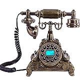 Teléfono Retro/teléfono Antiguo Europeo, Resina + Cuerpo de Metal, botón de función, teléfono, hogar y Oficina, decoración de Sala de Estar
